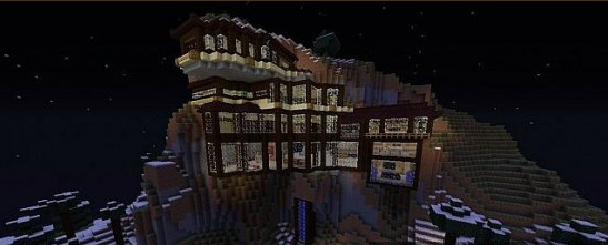 House In a Mountain. Карта для MINECRAFT